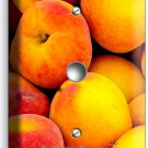 RIPE PEACHES LIGHT DIMMER CABLE WALL PLATE DINING ROOM KITCHEN HOME FRUIT DECOR