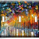COLORFUL DREAMY RAINY DAY TRIPLE LIGHT SWITCH WALL PLATE COVER ART STUDIO DECOR