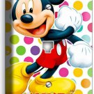 MICKEY MOUSE COLORFUL POLKA DOTS PHONE TELEPHONE WALL PLATE COVER BABY NURSERY
