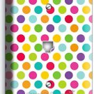 COLORFUL PASTEL POLKA DOTS PHONE TELEPHONE WALL PLATE COVER BABY NURSERY BEDROOM
