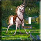NEW MAXIMUS BRAVE HORSE RAPUNZEL TANGLED DOUBLE LIGHT SWITCH PLATE ROOM DECOR