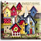 RUSTIC COUNTRY BIRD HOUSES SWEET HOME DOUBLE LIGHT SWITCH WALL PLATE COVER DECOR