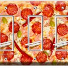 PEPPERONI PIZZA PIE TRIPLE GFI LIGHT SWITCH WALL PLATE DINING ROOM KITCHEN DECOR