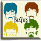 THE BEATLES POP ART JOHN GEORGE PAUL RINGO DOUBLE LIGHT SWITCH COVER HOME DECOR