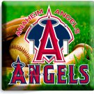 ANAHEIM ANGELS BASEBALL MLB TEAM LOGO DOUBLE LIGHT SWITCH WALL PLATE ART COVER