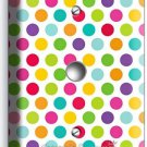 COLORFUL PASTEL POLKA DOTS LIGHT DIMMER CABLE WALL PLATE COVER BABY NURSERY ROOM