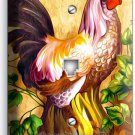 COUNTRY FARM ROOSTER RUSTIC PHONE TELEPHONE WALL PLATE COVER KITCHEN ROOM DECOR