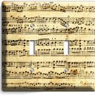 SHEET MUSIC VINTAGE MUSICAL NOTE DOUBLE LIGHT SWITCH WALL PLATE COVER STUDIO ART
