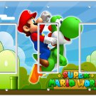SUPER MARIO BROTHERS YOSHI STAR TRIPLE DECORA LIGHT SWITCH WALL PLATE ROOM ART