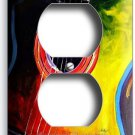 ACOUSTIC GUITAR COLORFUL MODERN ART DUPLEX OUTLET WALL PLATE COVER MUSIC STUDIO