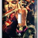 SHERLOCK HOLMES VIOLIN BENEDICT CUMBERBATCH SINGLE LIGHT SWITCH COVER ART DECOR