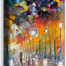RAINY DAY ABSTRACT PAINTING PHONE TELEPHONE WALL PLATE COVER NY ART STUDIO DECOR