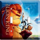 NEW LION KING SIMBA FROM DISNEY'S 3D MOVIE DOUBLE LIGHT SWITCH WALL PLATE COVER