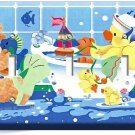 CUTE TOY DUCK BATHING TRIPLE LIGHT SWITCH WALL PLATE COVER LAUNDRY ROOM BATHROOM