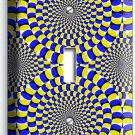 MOVING OPTICAL ILLUSION SINGLE LIGHT SWITCH WALL PLATE COVER ROOM BEDROOM DECOR