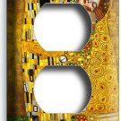 GUSTAV KLIMT THE KISS GOLD LEAF PAINTING DUPLEX OUTLET WALL PLATE ROOM ART COVER