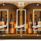 TUSCAN KITCHEN ITALIAN WINE BOTTLES TRIPLE GFI LIGHT SWITCH WALL PLATE ART COVER