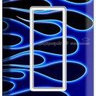 HOT ROD BLUE FLAMES SINGLE GFCI LIGHT SWITCH WALL PLATE COVER BIKE GARAGE DECOR