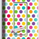 COLORFUL PASTEL POLKA DOTS SINGLE GFI LIGHT SWITCH WALL PLATE COVER BABY NURSERY