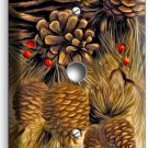 PINE CONES LIGHT DIMMER CABLE WALL PLATE COVER HOME WOOD CABIN RUSTIC ROOM DECOR
