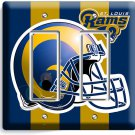 ST LOUIS RAMS FOOTBALL TEAM DOUBLE GFCI LIGHT SWITCH WALL PLATE BOYS ROOM GARAGE
