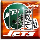 NY NEW YORK JETS NFL FOOTBALL TEAM DOUBLE GFCI LIGHT SWITCH WALL PLATE MAN CAVE