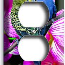 LOVE BIRDS PARROTS ORCHID FLOWERS DUPLEX OUTLET WALL PLATE COVER ROOM HOME DECOR