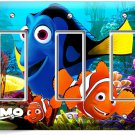 FINDING NEMO CLOWN FISH DORY OCEAN SEA CORAL REEF TRIPLE GFCI LIGHT SWITCH PLATE