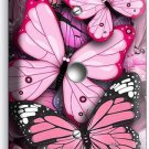 PINK BUTTERFLIES LIGHT DIMMER CABLE WALL PLATE BABY GIRL ROOM INFANT NURSERY ART
