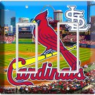 ST LOUIS CARDINALS BASEBALL TEAM SYMBOL DOUBLE GFI LIGHT SWITCH WALL PLATE COVER