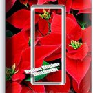 POINSETTIA HOLIDAY FLOWERS SINGLE GFCI LIGHT SWITCH WALL PLATE COVER HOME DECOR