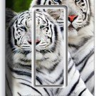 WILD CUTE WHITE BENGAL TIGERS SINGLE GFI LIGHT SWITCH WALL PLATE ROOM HOME DECOR