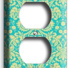 DAMASK SOPHISTICATED ORNAMENT PATTERN ELECTRICAL OUTLET WALL PLATE COVER DECOR