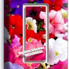 PETUNIA COLORFUL GARDEN FLOWERS VARIETY SINGLE GFI LIGHT SWITCH WALL PLATE COVER
