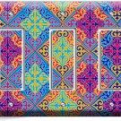 DAMASK ARABIC COLORFUL PATTERN TRIPLE GFCI LIGHT SWITCH WALL PLATE COVER DECOR