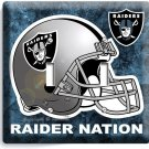 OAKLAND RAIDERS NATION NFL FOOTBALL TEAM DOUBLE LIGHT SWITCH WALL PLATE ROOM ART