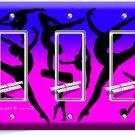 LITTLE GYMNAST TRIPLE GFCI LIGHT SWITCH WALL PLATE GIRLS ROOM DANCE STUDIO DECOR