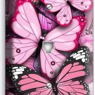 PINK BUTTERFLIES PHONE TELEPHONE WALL PLATE COVER BABY GIRL ROOM NURSERY DECOR