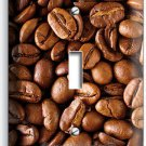 FRENCH ROAST COFFEE HOUSE BEANS SINGLE LIGHT SWITCH WALL PLATE COVER HOME DECOR