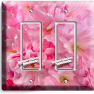 CHERRY BLOSSOM SAKURA FLOWERS CLUSTER DOUBLE GFCI LIGHT SWITCH WALL PLATE COVER