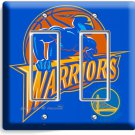 GOLDEN STATE WARRIORS BASKETBALL DOUBLE GFI LIGHT SWITCH WALL PLATE BOYS BEDROOM