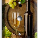 TUSCAN VINEYARD RUSTIC WINE BARREL GRAPES LIGHT DIMMER /CABLE SWITCH PLATE COVER