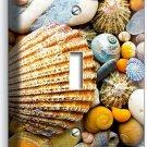 SEA SHELLS BEACH STONES SINGLE LIGHT SWITCH WALL PLATE BATHROOM SUMMER HOUSE ART