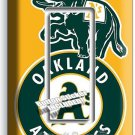 AS OAKLAND ATHLETICS BASEBALL TEAM SINGLE GFI LIGHT SWITCH WALL PLATE COVER ROOM