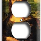 MONA LISA LEONARDO DA VINCI PAINTING DUPLEX OUTLET LIGHT WALL PLATE COVER DECOR