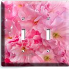 CHERRY BLOSSOM SAKURA FLOWERS CLUSTER DOUBLE LIGHT SWITCH WALL PLATE COVER DECOR
