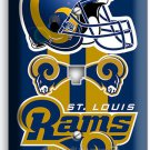 ST LOUIS RAMS FOOTBALL TEAM PHONE JACK TELEPHONE WALL PLATE BOYS ROOM MAN CAVE