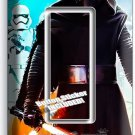 STAR WARS KYLO REN FIRST ORDER STORMTROOPERS SINGLE GFCI LIGHT SWITCH WALL PLATE
