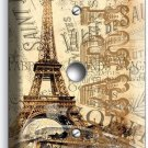 PARIS EIFFEL TOWER OLD POST CARD DIMMER VIDEO CABLE WALL PLATE COVER HOME DECOR