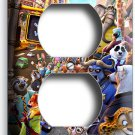 ZOOTOPIA FOX NICK BUNNY JUDY SLOTH FLASH BOGO DUPLEX OUTLET WALL PLATE ART COVER
